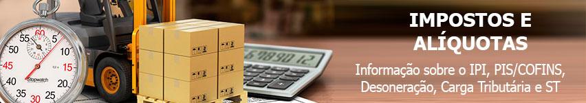 Impostos e Alíquotas por NCM